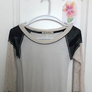 NWOT Free People Mixed Print Knit Thermal …